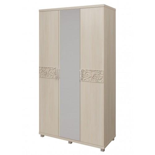 09 «Ирис» Шкаф для платья и белья 3-х дверный (Дуб Бодега)