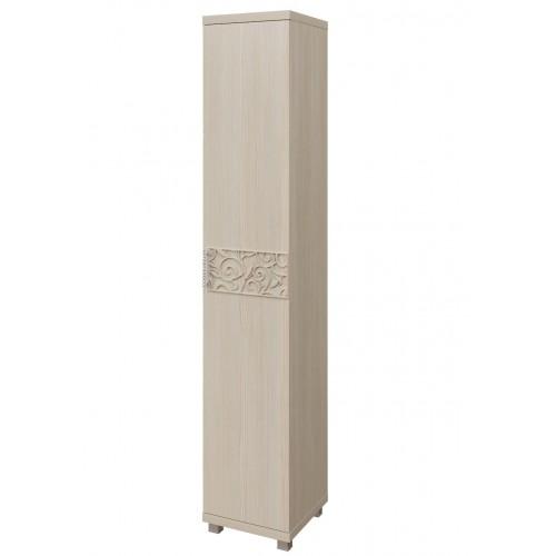 12 «Ирис» Шкаф-пенал для белья (1 дверь) (Дуб Бодега)