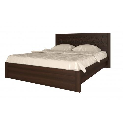 01 «Ирис» Кровать 160*200 см, без ортопеда, без матраса (Дуб Тортона)