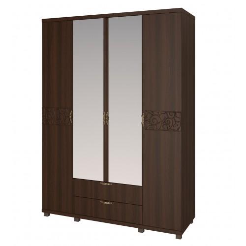 06 «Ирис» Шкаф для одежды 4-х дверный с ящиками (Дуб Тортона)