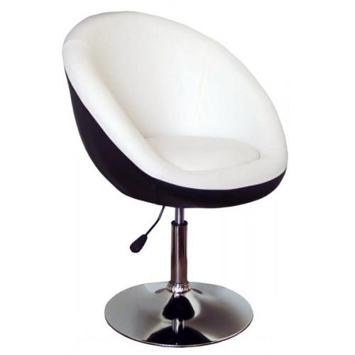 Барный стул 9132 черный с белым