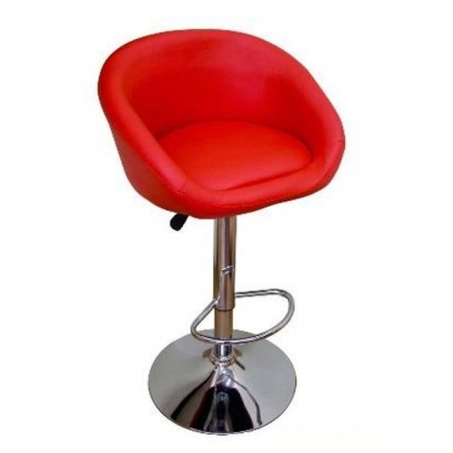 Барный стул из экокожи красный James 5002