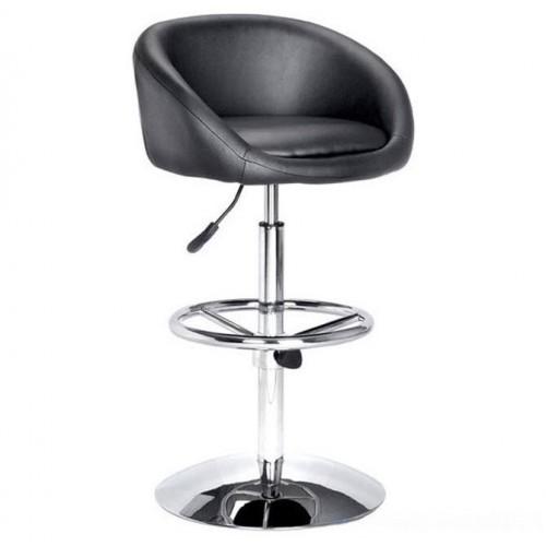Барный стул из экокожи черный James 5002