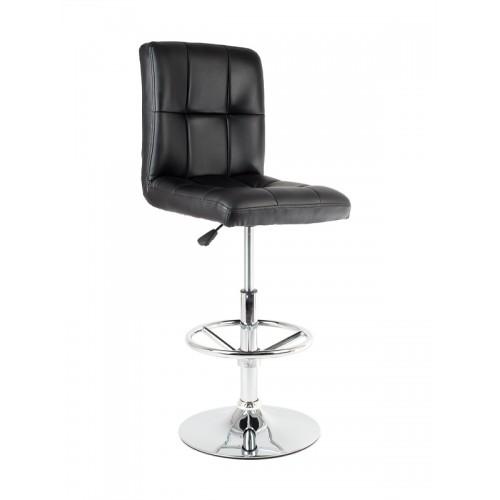 Барный стул из экокожи черный Kruger 5009