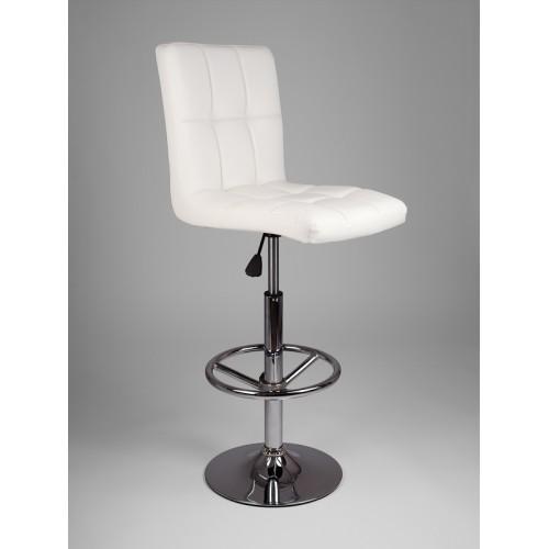 Барный стул из экокожи белый Kruger 5009