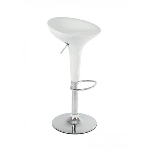 Барный стул пластиковый белый Bomba 1004