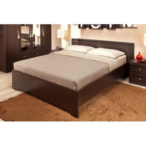Анкона 2. Кровать 160*200 см + 2.1 Основание (160) с гибкими ламелями, Металл (Венге)