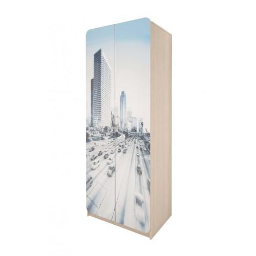 03 Шкаф для платья и белья «Манхеттен»