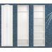 16 Шкаф для одежды 2-х дверный «Виктория» (Белый Глянец)