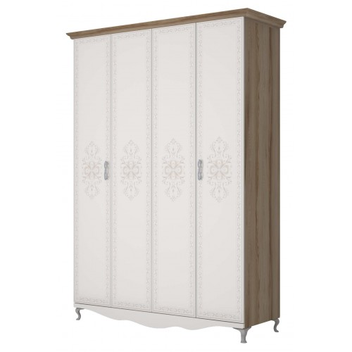 1 Шкаф для одежды 4-х дверный БЕЗ ЗЕРКАЛА «Династия»