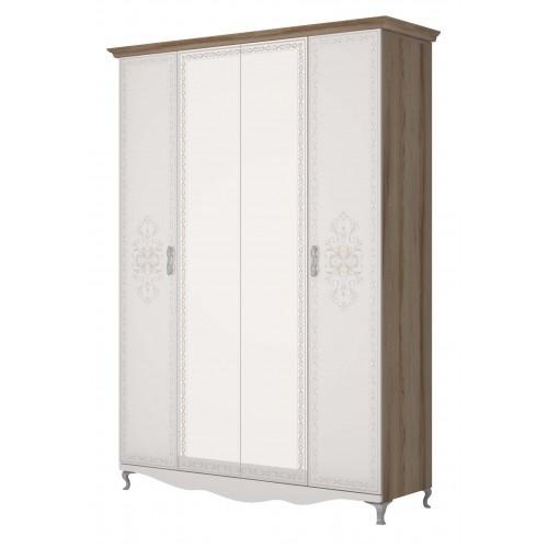 1 Шкаф для одежды 4-х дверный С ЗЕРКАЛОМ «Династия»