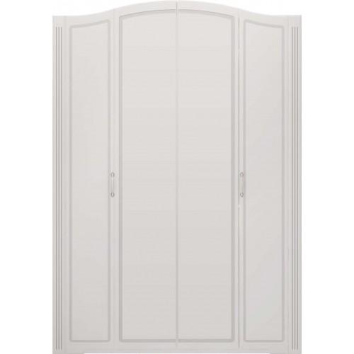 "01 ""Виктория"" Шкаф для одежды 4-х дверный (без зеркал) (Белый Глянец)"