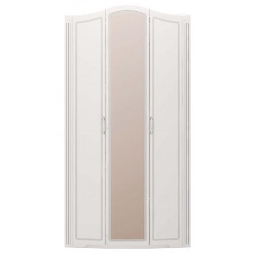 """09 """"Виктория"""" Шкаф для одежды 3-х дверный (с зеркалом) (Белый Глянец)"""