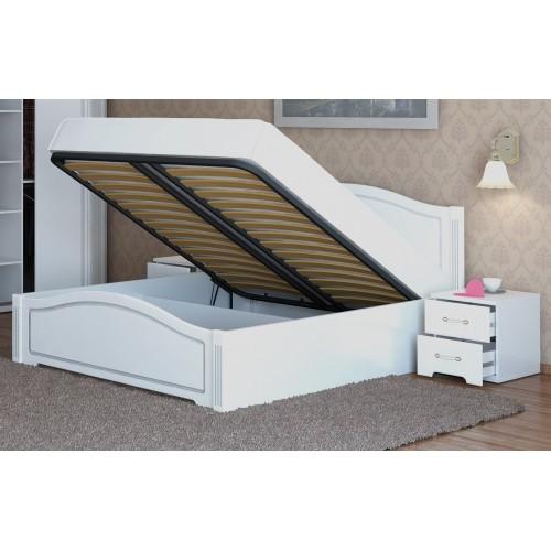 """05 """"Виктория"""" кровать 160*200 см с подъемным механизмом, без матраса (Белый Глянец)"""