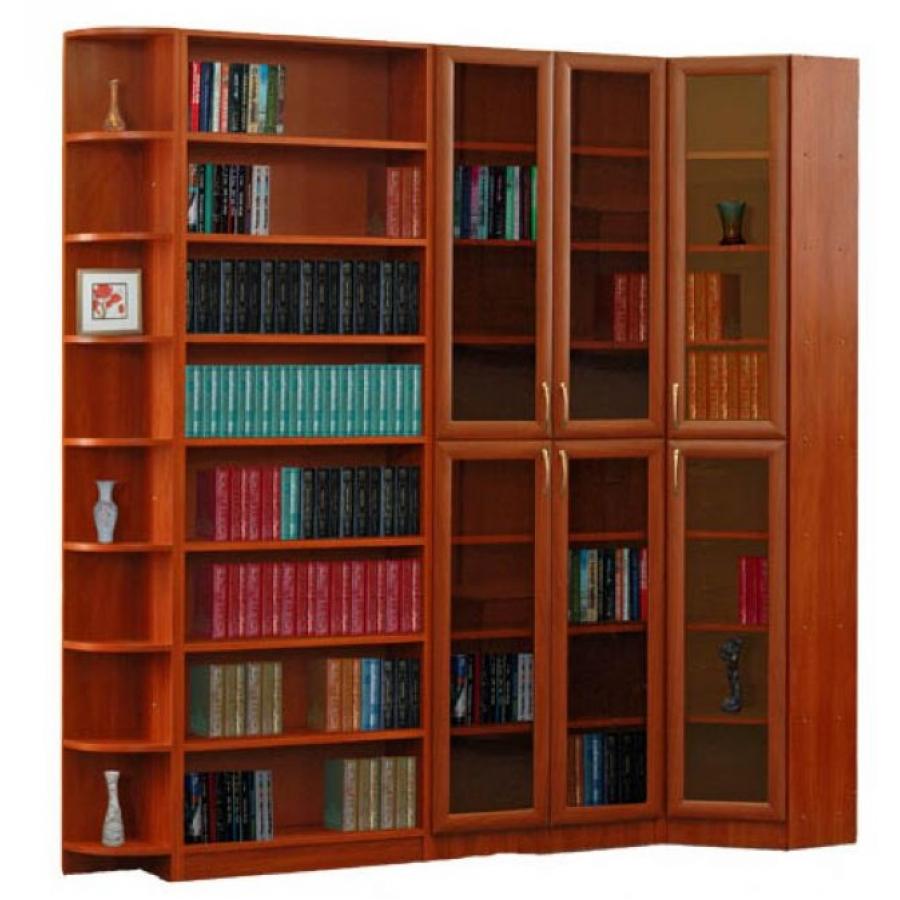 Купить книжный шкаф со стеклянными дверцами. поможем подобра.
